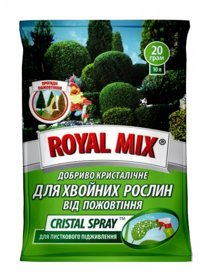 Royal Mix cristal spray для хвойних від пожовтіння