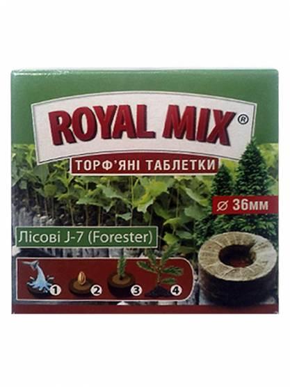 """Rоyal Mix Торфяные таблетки """"Лесные J-7 (Forester)"""", 25 мм, 36мм"""
