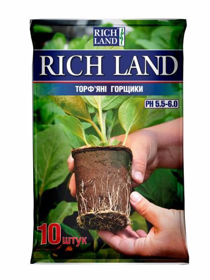 Торфяные горшки Rich Land