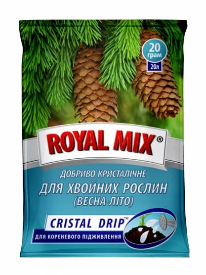 Royal Mix cristal drip для хвойних рослин: весна-літо
