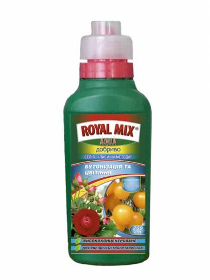 Royal Mix Aqua Бутонізація і цвітіння Класичний метод