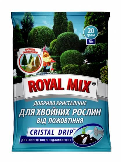 Royal Mix cristal drip для хвойних від пожовтіння