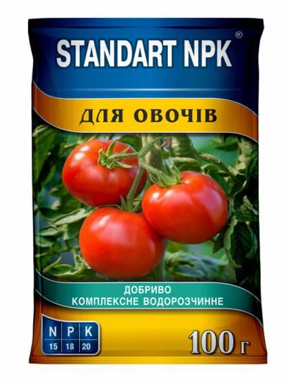 Standart NPK Комплексное водорастворимое удобрение для овощей